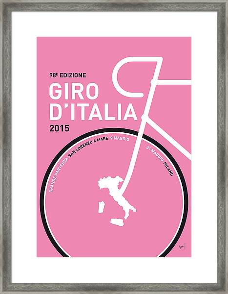 My Giro D'italia Minimal Poster 2015 Framed Print