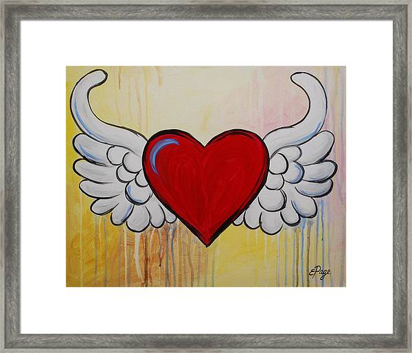 My Heart Has Wings Framed Print