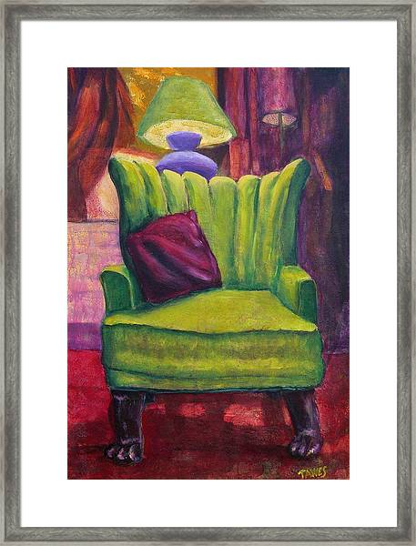 My Interview With A Chair Framed Print