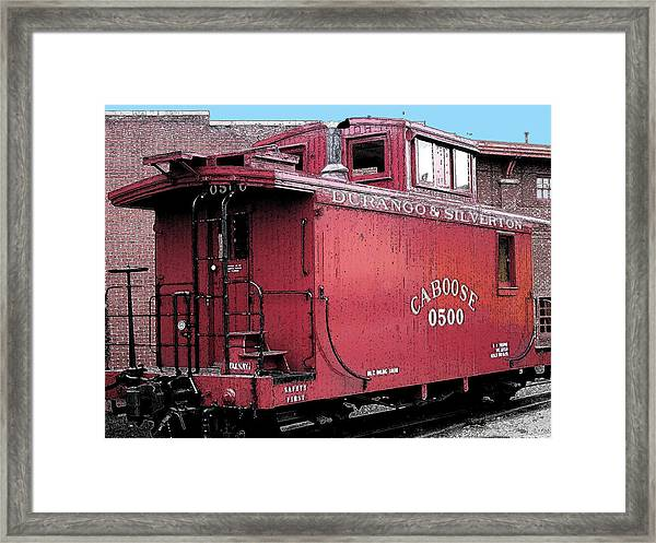My Little Red Caboose Framed Print