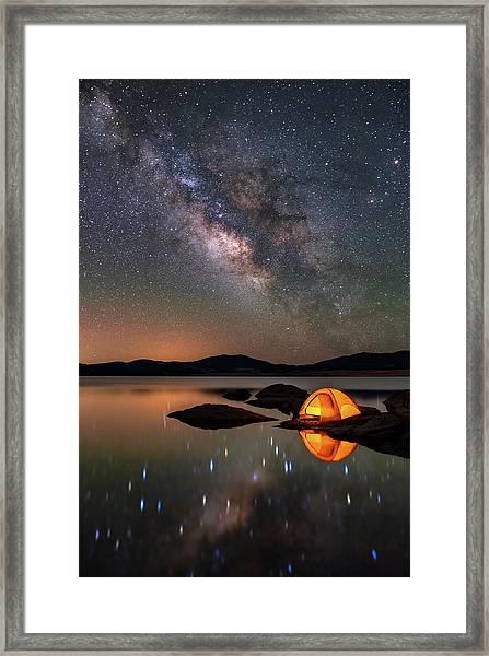 My Million Star Hotel Framed Print