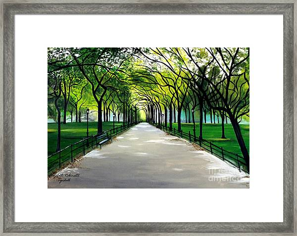 My Poet's Walk Framed Print