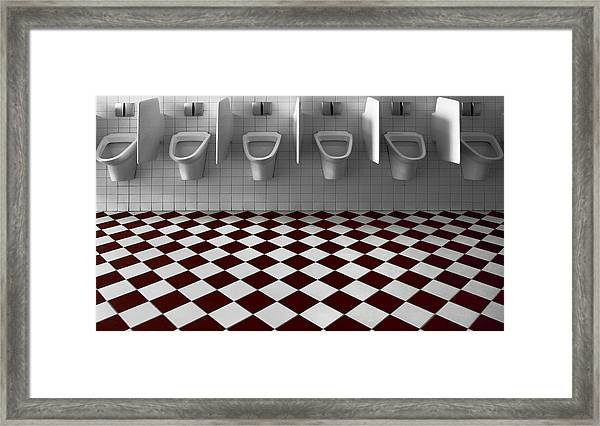 My Private Toilet... Framed Print by Gilbert Claes