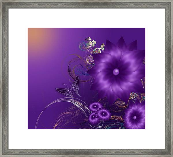 My Purple Day Framed Print