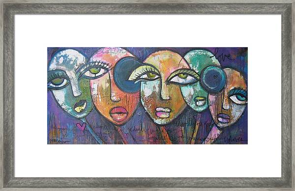 Framed Print featuring the painting My Sentiments by Laurie Maves ART