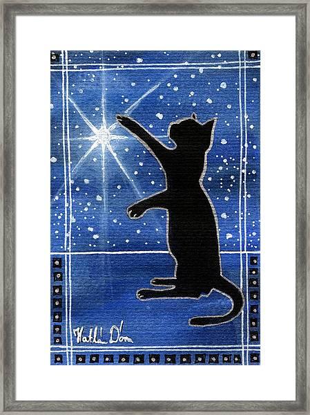 My Shinning Star - Christmas Cat Framed Print