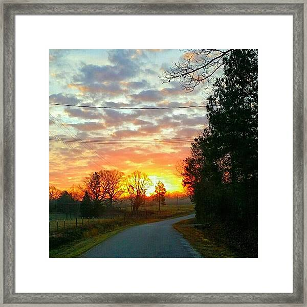 My View Of The Sunrise This Framed Print