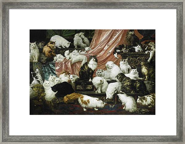 Framed Print featuring the painting My Wife's Lovers by Carl Kahler