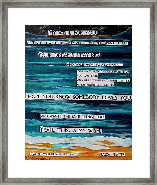 My Wish Framed Print