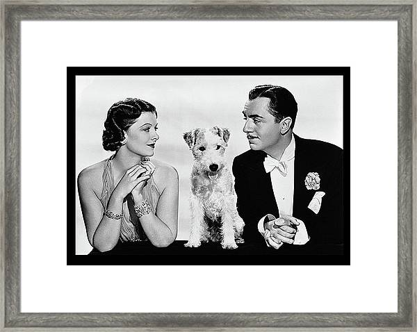 Myrna Loy Asta William Powell Publicity Photo The Thin Man 1936 Framed Print