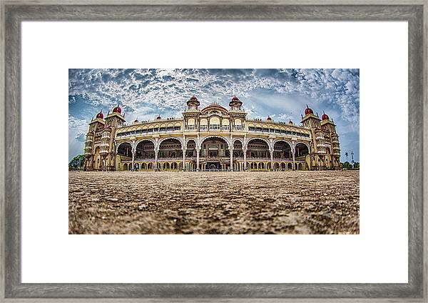 Framed Print featuring the photograph Mysore Palace by Chris Cousins