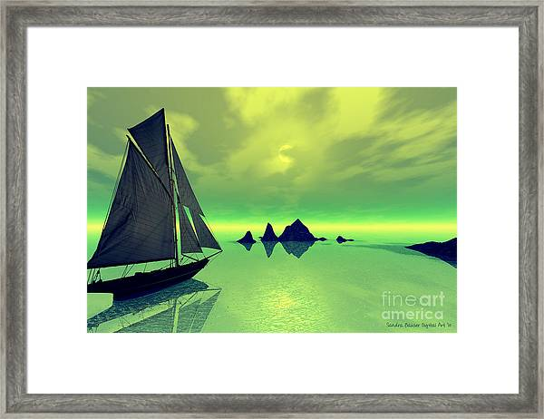 Mysterious Voyage Framed Print by Sandra Bauser Digital Art