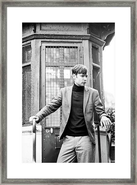 Mystery Man, Paris Framed Print