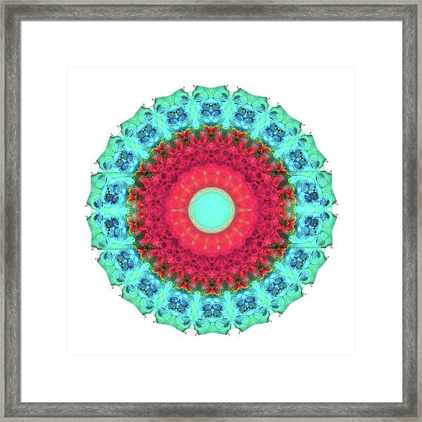 Mystic Circle Mandala - Sharon Cummings  Framed Print
