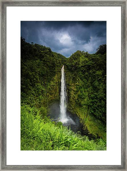 Framed Print featuring the photograph Mystic Waterfall by Break The Silhouette