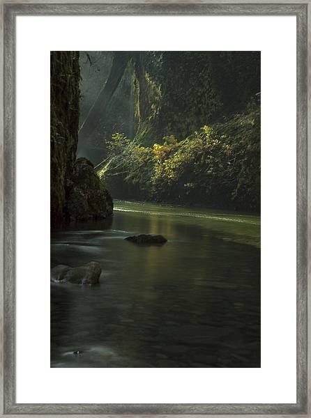 Mystical Canyon Framed Print