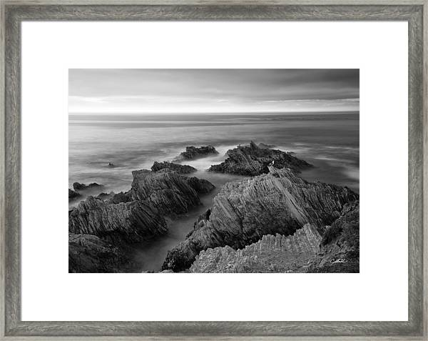 Mystical Moment Bw Framed Print