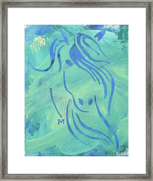 Framed Print featuring the painting Mystique by Candace Shrope