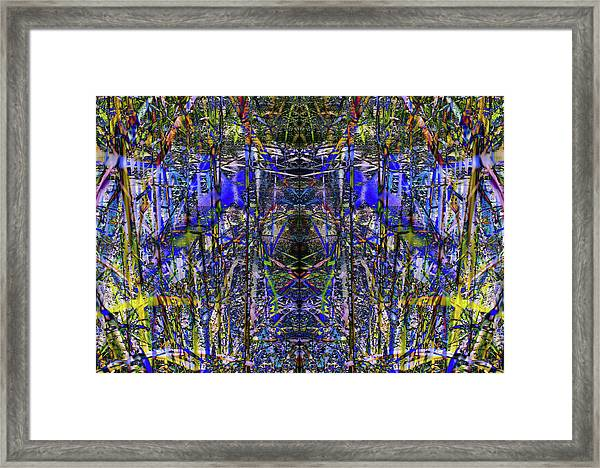 Winter Walk In The Weeds Framed Print