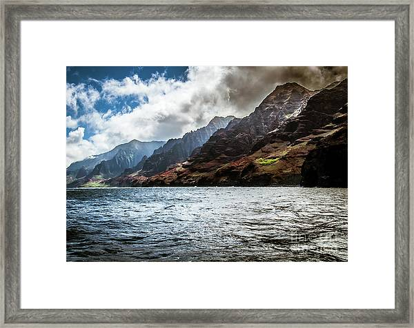 Na Pali Coast Cliffs Kauai Hawaii Framed Print