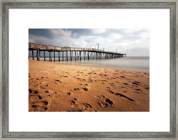 Nags Head Fishing Pier Framed Print