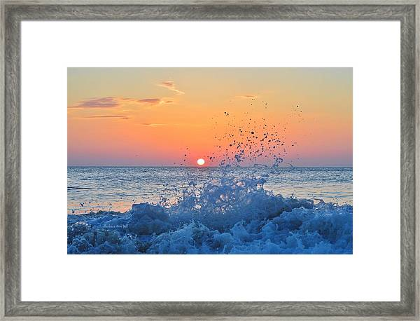Nags Head Sunrise 7/15/16 Framed Print