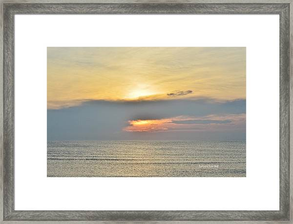Nags Head Sunrise 7/24/16 Framed Print