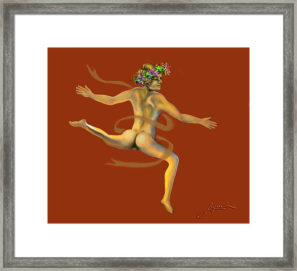 Naked Dancer Framed Print