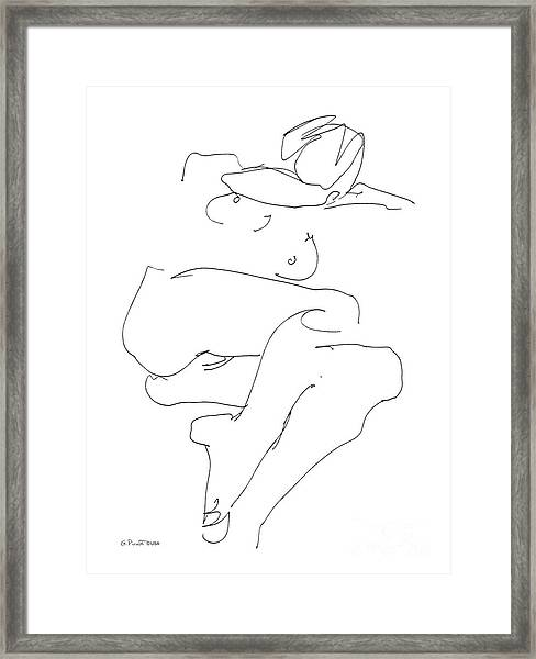 Naked-female-art-21 Framed Print