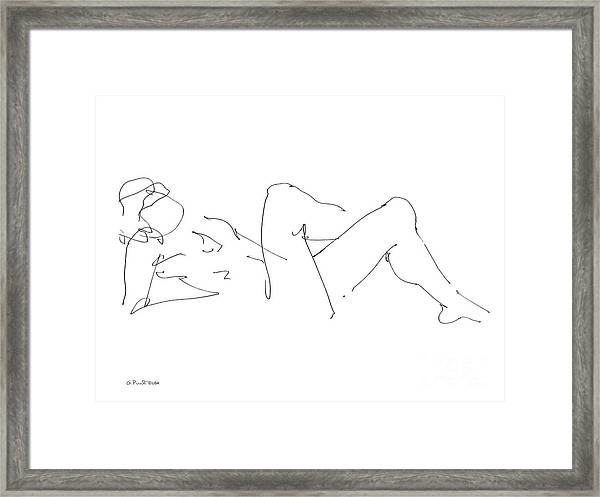 Naked-male-drawing-14 Framed Print