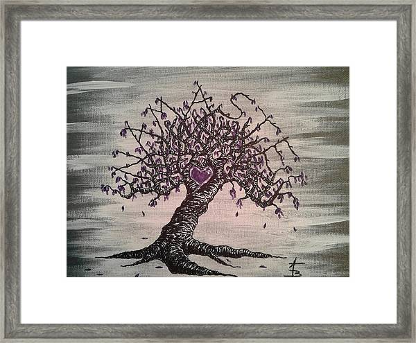 Framed Print featuring the drawing Namaste Love Tree by Aaron Bombalicki