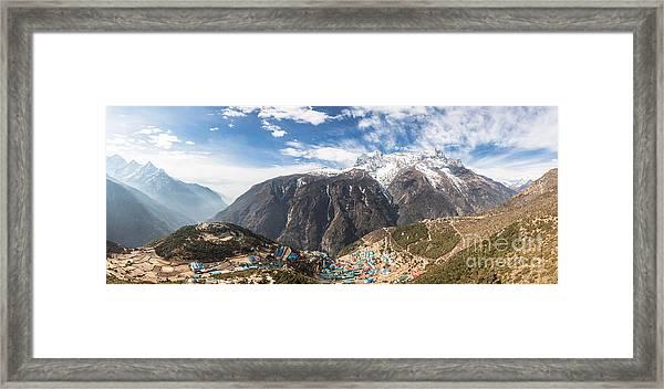 Namche Bazar Panorama Framed Print
