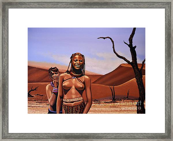 Himba Girls Of Namibia Framed Print