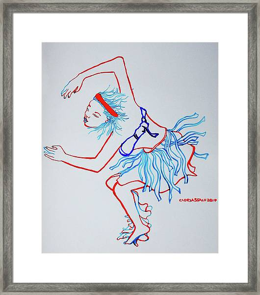 Namibian Traditional Dance Framed Print