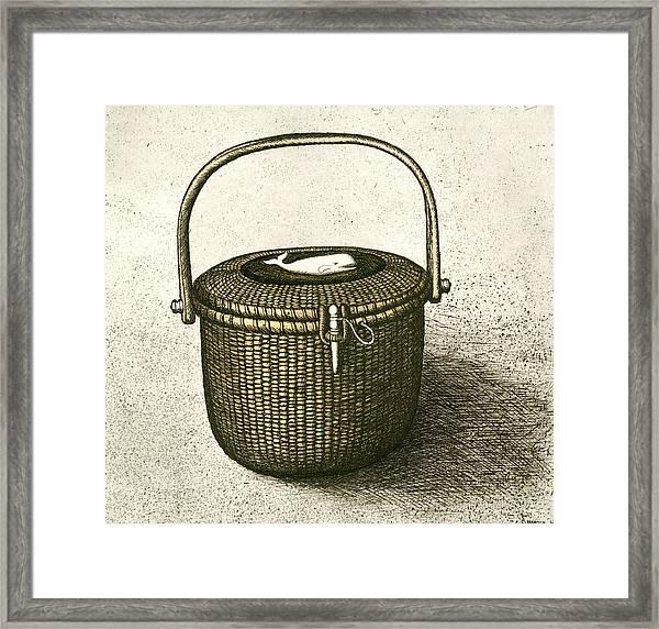 Nantucket Basket Framed Print
