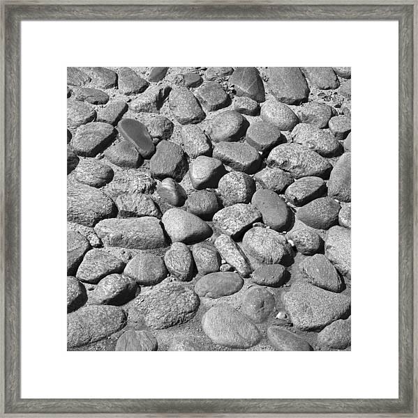 Nantucket Cobblestones Framed Print