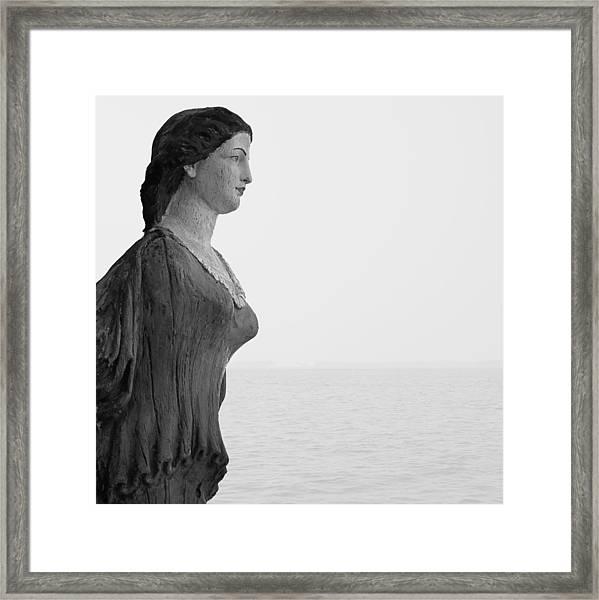 Nantucket Figurehead Framed Print