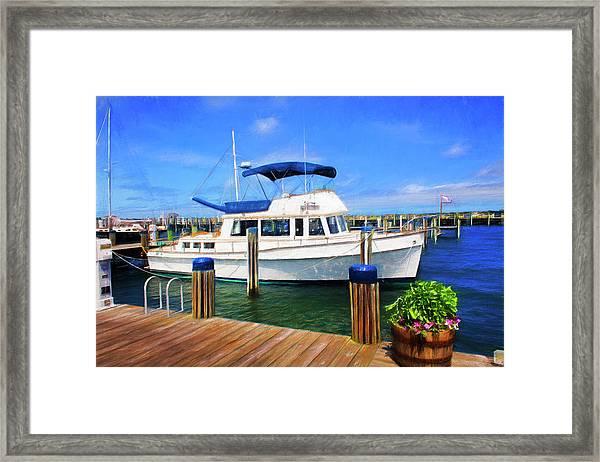 Nantucket Harbor Safe Harnor Series 52 Painted Framed Print