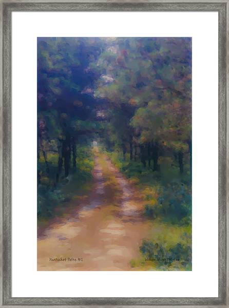 Nantucket Paths #1 Framed Print