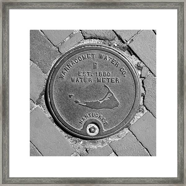 Nantucket Water Meter Cover Framed Print