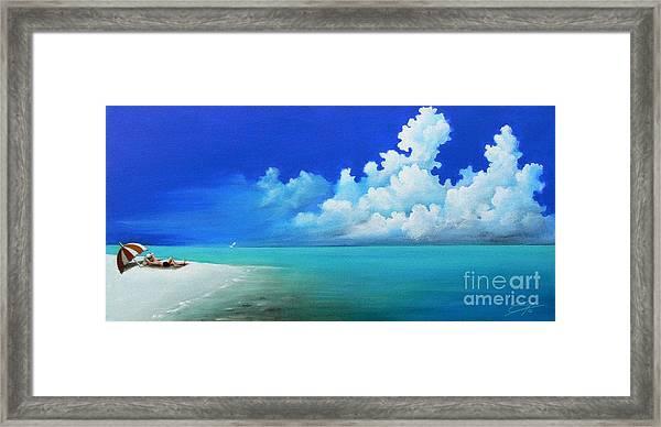 Nap On The Beach Framed Print
