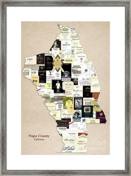 Napa County California Framed Print