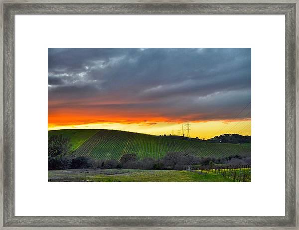 Napa Sunrise Framed Print