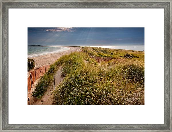 Framed Print featuring the photograph Napatree Point Preserve by Susan Cole Kelly