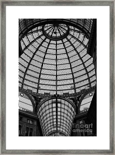 Naples Galleria Framed Print by John Rizzuto