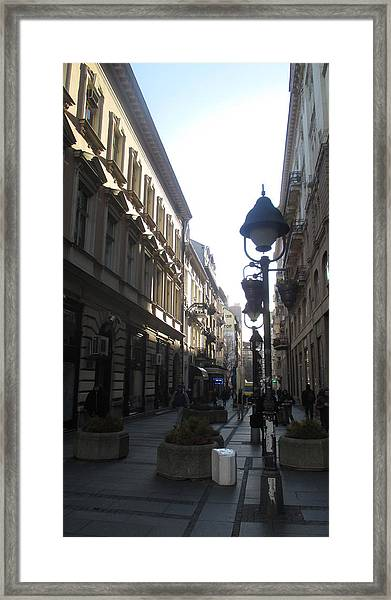 Narrow Street Framed Print