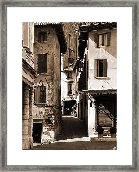 Narrow Streets Of Asolo Framed Print