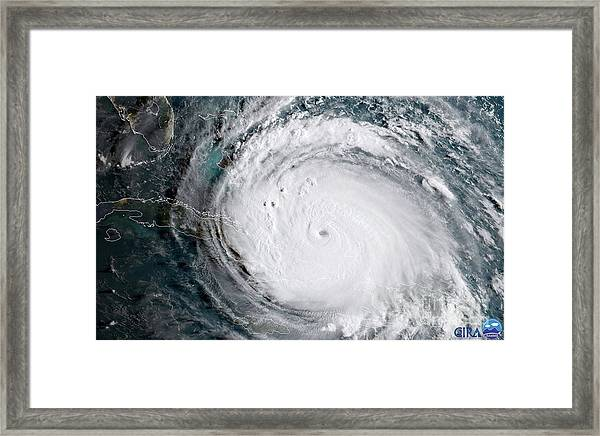 Nasa Hurricane Irma Satellite Image Framed Print