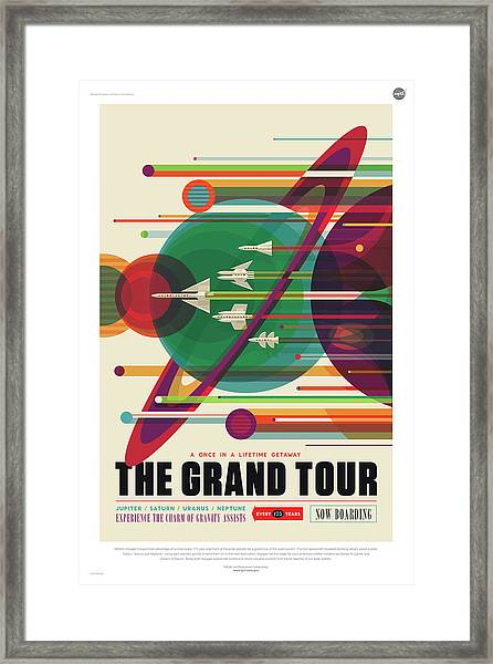 Nasa The Grand Tour Poster Art Visions Of The Future Framed Print