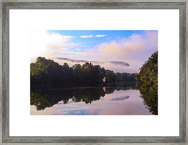 Nashawannuck Pond, Easthampton, Ma Framed Print